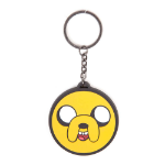 ADVENTURE TIME Jake Face Rubber Keychain, One Size, Multi-Colour (KE260322ADV)