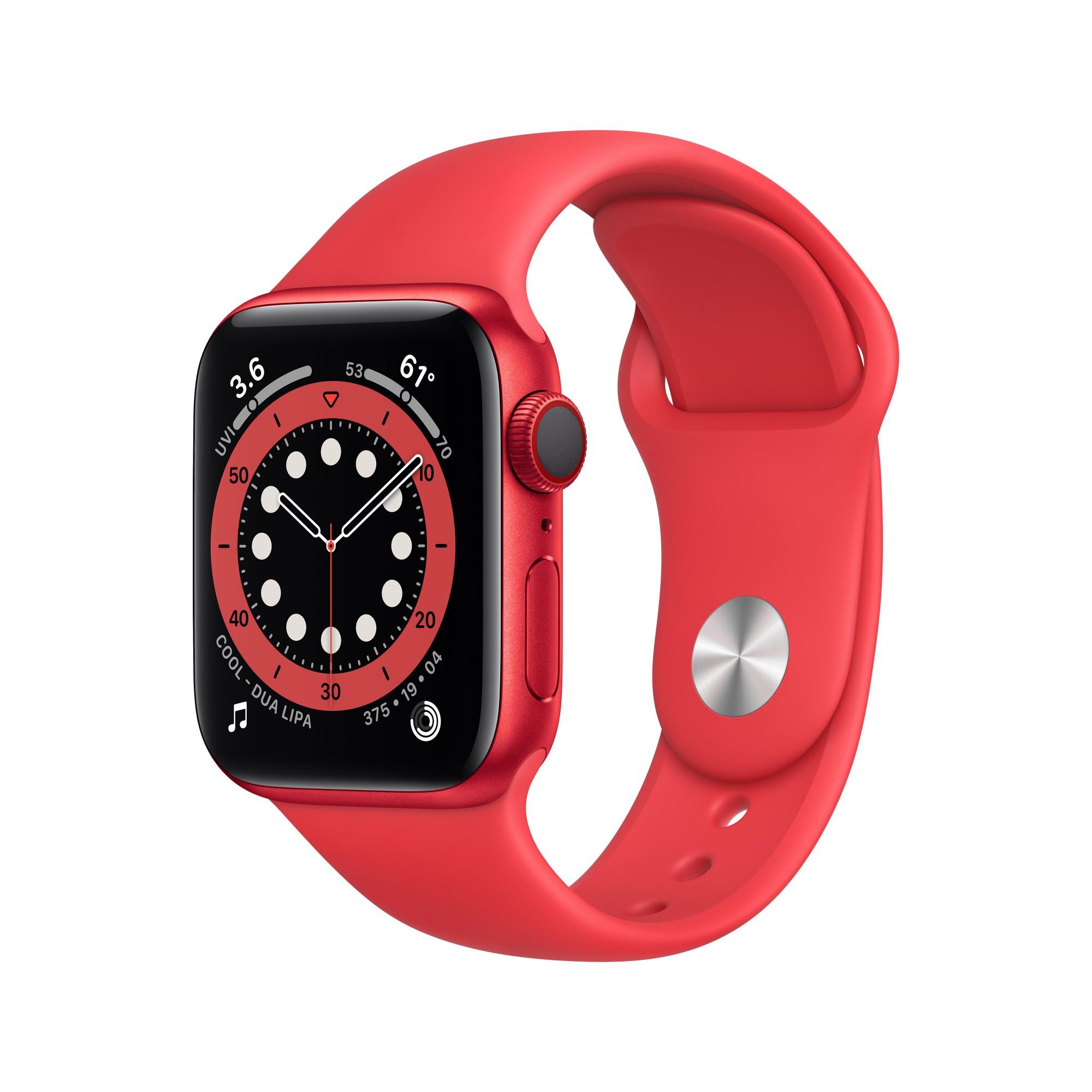 Apple Watch Series 6 OLED 40 mm Rojo 4G GPS (satélite)