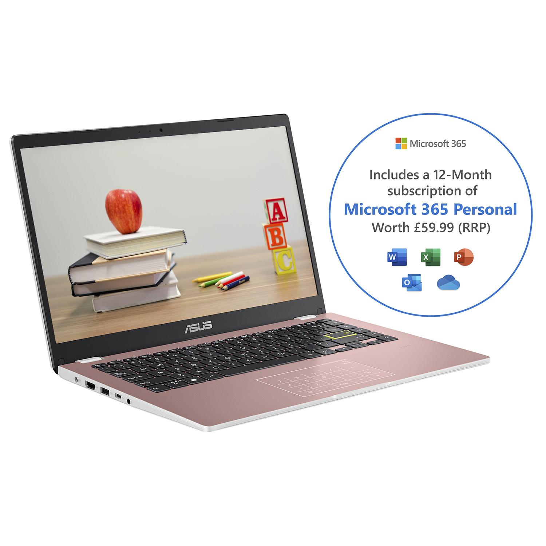 """ASUS E410MA-EK017TS notebook DDR4-SDRAM 35.6 cm (14"""") Intel® Celeron® N 4 GB 64 GB eMMC Wi-Fi 5 (802.11ac) Windows 10 Home S Pink"""