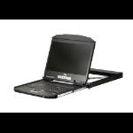 "Aten CL3700NX rack console 47 cm (18.5"") 1366 x 768 pixels Metal,Plastic Black 1U"