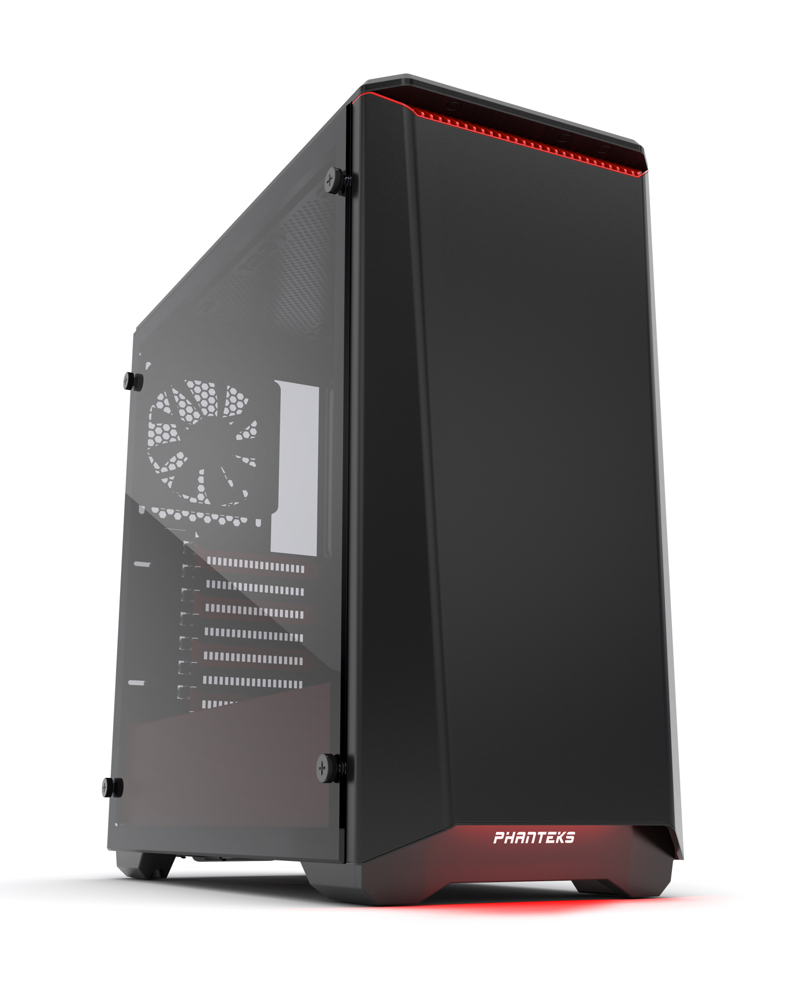 Phanteks Eclipse P400S Tempered Glass Midi-Tower Black,Red