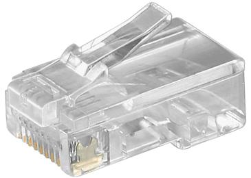 RJ45 Modular Plug. F/FlatCables. 8/8. 10pcs