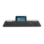 Logitech K780 keyboard RF Wireless + Bluetooth QWERTY UK English Grey,White