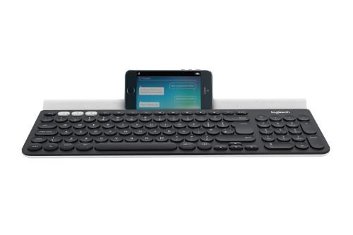Logitech K780 keyboard RF Wireless + Bluetooth QWERTY UK English Grey,White
