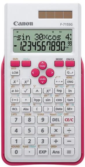 Canon F-715SG calculadora Bolsillo Calculadora científica Rosa, Blanco