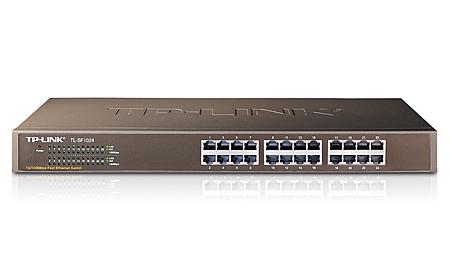 TP-LINK 24-Port 10/100Mbps Fast Ethernet Switch Unmanaged Black