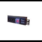 Cablenet 10 Way Horizontal C13 + UK 3m Feed