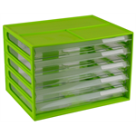 ITALPLAST DOCUMENT CABINET ITALPLAST A4 5 DRAWER LIME(EACH)
