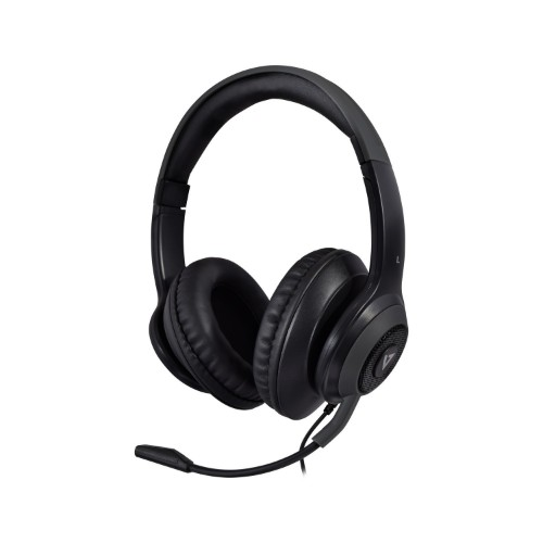 V7 Premium Over-ear Stereo Headset, Boom Mic, PC, Mac, Tablets, Laptop Computer, Gaming, Video Conferencing, 3.5mm, USB