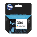 HP N9K05AE (304) Ink cartridge color, 120 pages @ 5% coverage, 2ml
