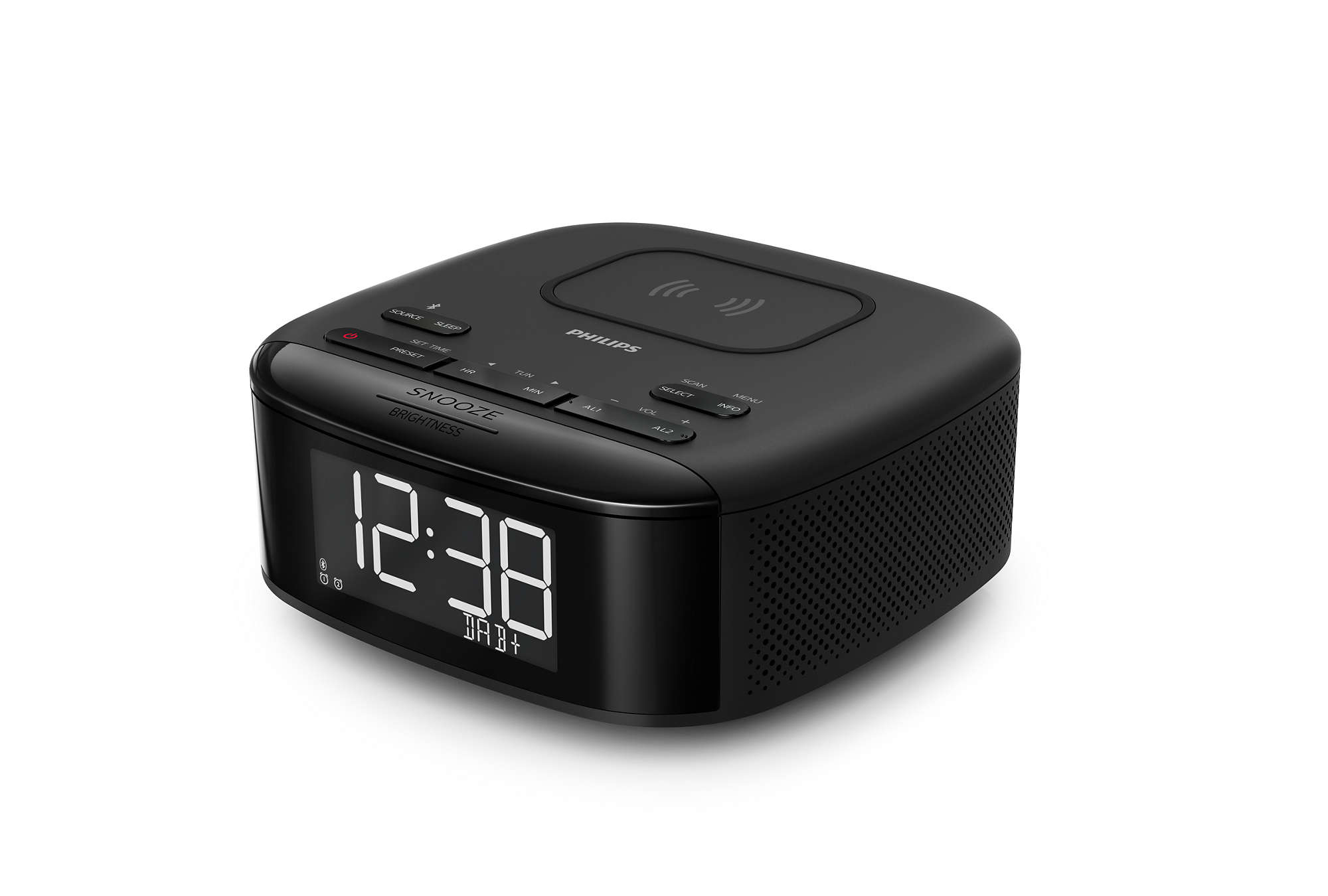 Philips TAR7705 Clock Radio with DAB+ and Wireless Phone Charging