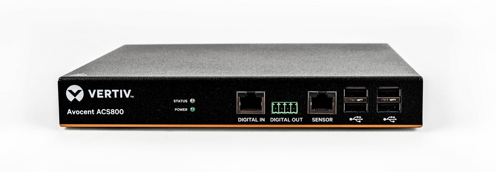 Vertiv Avocent 2-Port ACS800 Serial Console with external AC/DC Power Brick - UK power cord: Plug CE