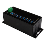 StarTech.com 7-Port Industrial USB 3.0 Hub with External Power Adapter - ESD & 350W Surge Protection