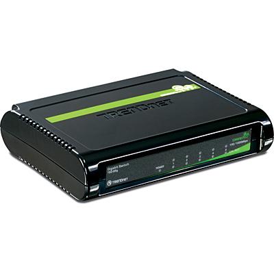 Trendnet 5-Port Gigabit GREENnet Switch No administrado Negro