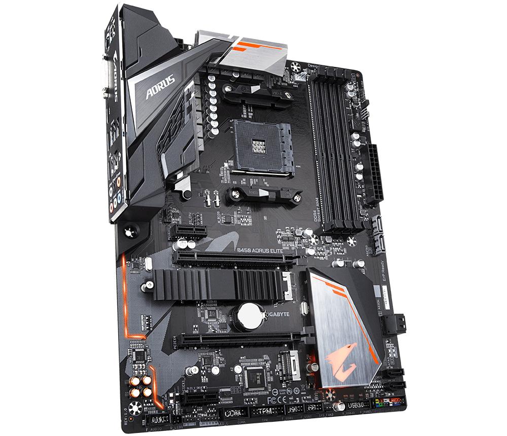 www CUSTOMPC ie - Gigabyte B450 AORUS ELITE motherboard Socket AM4