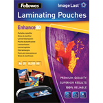 Fellowes ImageLast A4 80 Micron Laminating Pouch - 25 pack laminator pouch