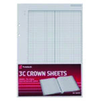 Twinlock 3C Crown Plain Sheets Ref 75840 [Pack 100]