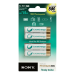 Sony Premium Rechargeable Ni-MH Batteries, Size AAA, 4pc blister pack