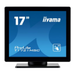 "iiyama ProLite T1721MSC-B1 touch screen monitor 43.2 cm (17"") 1280 x 1024 pixels Black Multi-touch Tabletop"