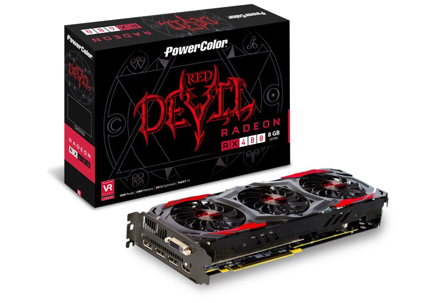 PowerColor AXRX480 8GBD5-3DH/OC AMD Radeon RX 480 8GB graphics card