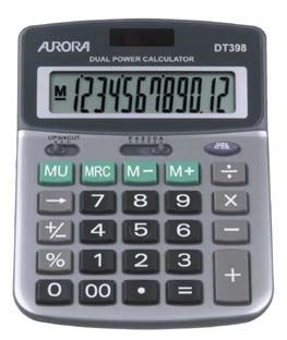Aurora DT398 calculator Desktop Financial Grey