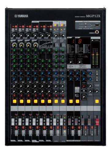 Yamaha MGP12X 12channels 20 - 20000Hz Black audio mixer