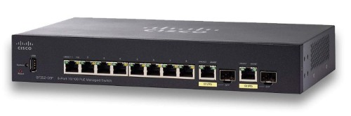 Cisco Small Business SF352-08P Managed L2/L3 Fast Ethernet (10/100) Black 1U Power over Ethernet (PoE)