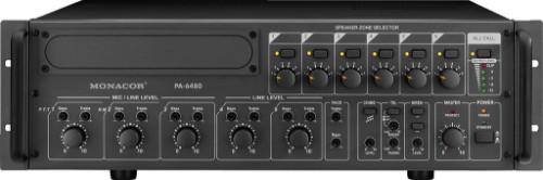 Monacor PA-6480 5channels 55 - 16000Hz Black audio mixer