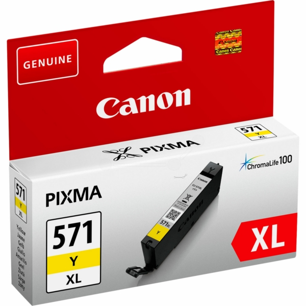 Canon 0334C001 (CLI-571 YXL) Ink cartridge yellow, 715 pages, 11ml