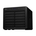 "Synology DX1215II behuizing voor opslagstations HDD-/SSD-behuizing Zwart 2.5/3.5"""
