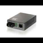 LevelOne 10/100BASE-TX to 100BASE-FX SMF SC PoE PD Converter network media converter