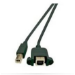 Microconnect USBABF1PANEL 1m USB A USB B Male Female Black USB cable