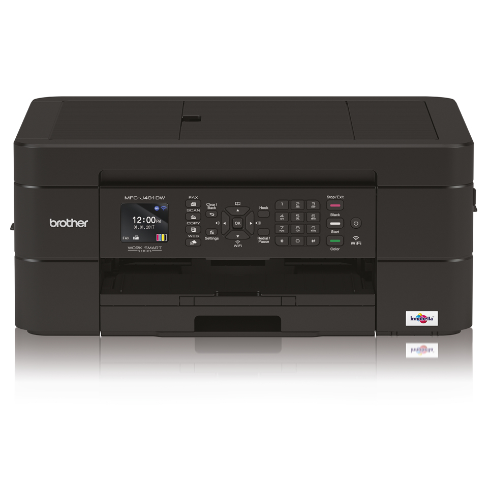 Mfc-j491dw - Colour Multi Function Printer - Inject - A4 - USB / Ethernet / Wi-Fi