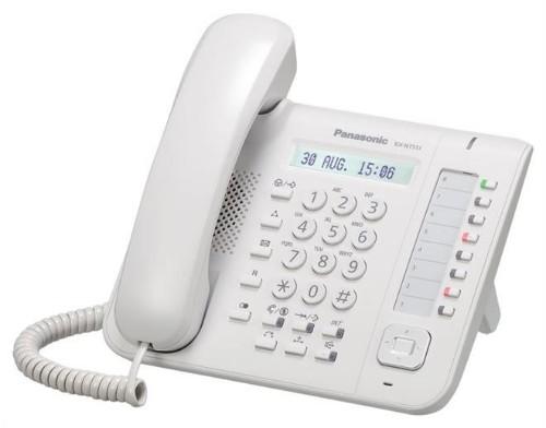 Panasonic KX-NT551X IP phone White Wired handset LCD
