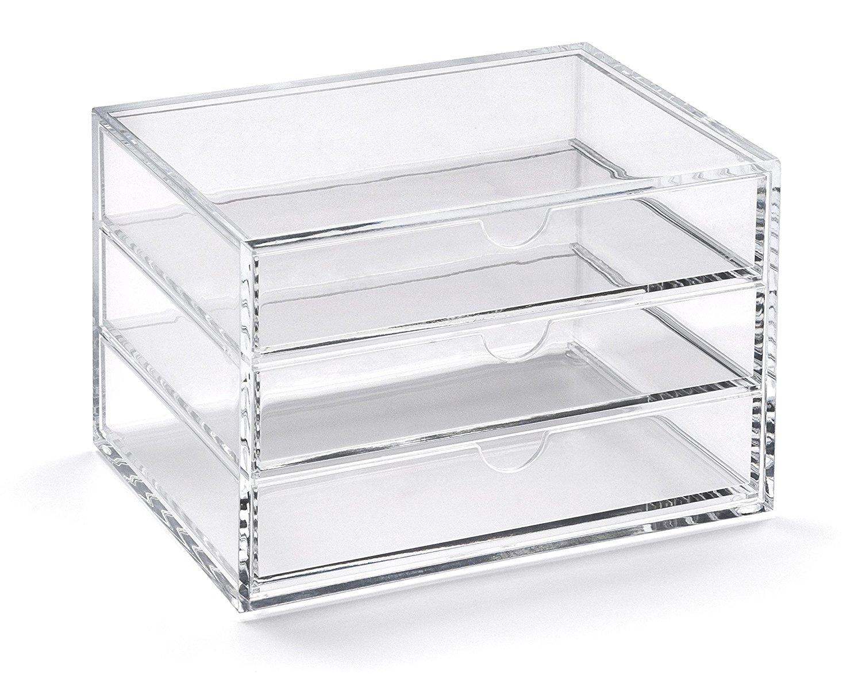 Osco Clear Acrylic 3 Drawer Chest - Mini