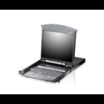 """ATEN KL1508AN-AXA-EE rack console 48.3 cm (19"""") 1280 x 1024 pixels Metal Black 1U"""