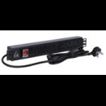 Lanview LVR261873UK power distribution unit (PDU) 6 AC outlet(s) 1.5U Black