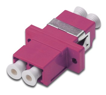 DIGITUS LC/LC Duplex Coupler. OM4. Color RAL 4003