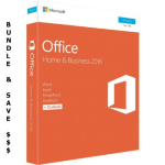 Microsoft Bundle Buy - 5 x Microsoft Office 2016 Home & Business, Retail Software, 1 User - Medialess V2. Bundle and Save