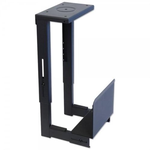 Lindy 40283 CPU holder Desk-mounted CPU holder Black
