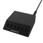 Sabrent AX-FLCH-B mobile device charger Black Indoor