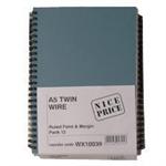 White Box WB A5 SPIRAL PAD 80SHT BLUE