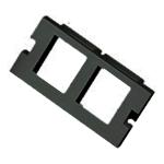 Cablenet 2 Port Keystone Housing (25mm x 50mm) Black