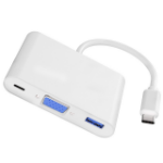 4XEM 4XUSBCHUB03 notebook dock/port replicator Wired USB 3.2 Gen 1 (3.1 Gen 1) Type-C Gray, White
