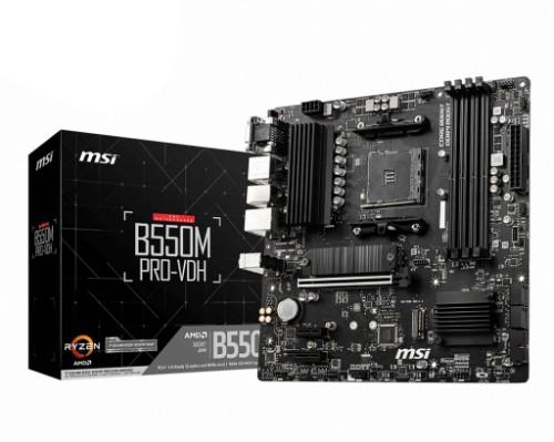 MSI B550M PRO-VDH motherboard AMD B550 Socket AM4 micro ATX