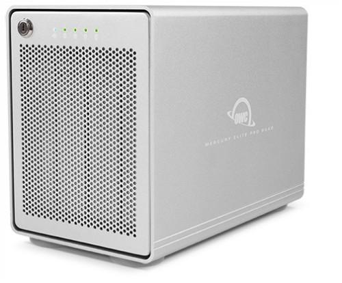 OWC Mercury Elite Pro Quad 8000GB Tower Silver disk array