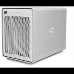 OWC Mercury Elite Pro Quad 8000GB Tower Silver disk array OWCMEQCTJBT08