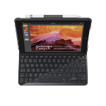 Logitech Slim Folio mobile device keyboard Black QWERTY Spanish Bluetooth