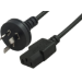 8WARE Power Cable 3m 3-Pin AU to IEC C13 Male to Female Piggy Back LS