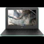"HP Chromebook 11 G7 EE Groen, Grijs 29,5 cm (11.6"") 1366 x 768 Pixels Touchscreen Intel® Celeron® N N4100 4 GB LPDDR4-SDRAM 32 GB eMMC"